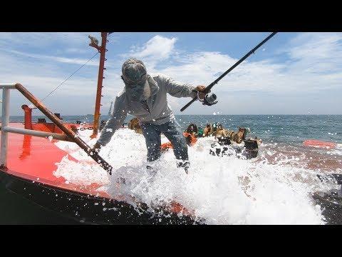 迎着大浪阿雄登外海沉船海钓,遇上凶猛鲨鱼,把鱼钩鱼线都生吞了