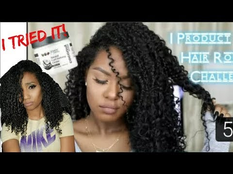 I TRIED FOLLOWING GLAMTWINZ334 1 PRODUCT CURLY HAIR ROUTINE CHALLENGE