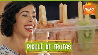 Picolé caseiro de água de coco com morango e kiwi | Bela Gil | Bela Cozinha