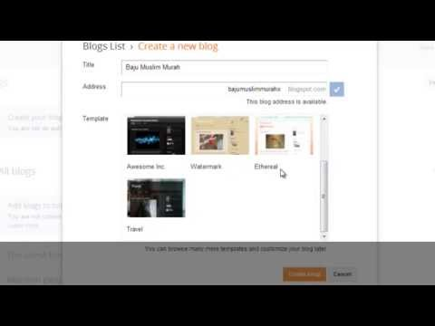 Tutorial Cara Menggunakan Blogger   Cara Membuat Blog