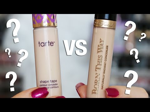 Concealer WEAR Test   Tarte Shape Tape VS Too Faced Born This Way