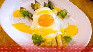 Śniadanie polskie oraz szparagi z jajkiem i sosem holenderskim - przepisy WARS