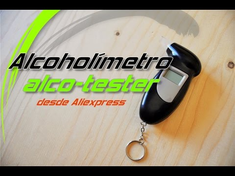 Alcoholímetro desde aliexpress. Breathalyser kit. Unboxing & review
