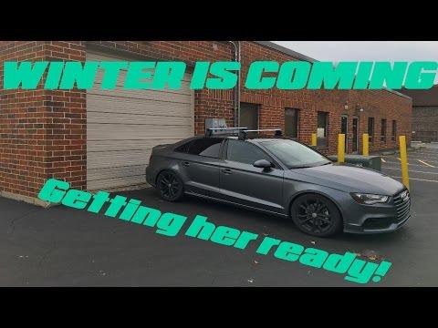 2015 Audi A3 | Winter wheel swap | S4 Wheels!!!