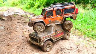RC Cars MUD Off Road 4x4 ADVENTURES heavy off-road driving - mudding