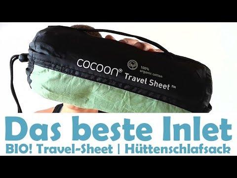 Cocoon Travel Sheet organic - Hüttenschlafsack aus Bio-Baumwolle [Inlet-Vergleich 2018]