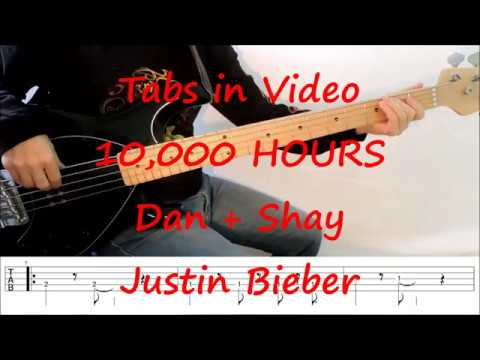 Dan + Shay, Justin Bieber - 10,000 Hours (PLAY ALONG TABS IN VIDEO)