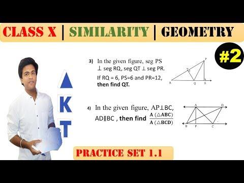 Similarity [Part 2] | Class 10 | Practice set 1.1 (MATHS 2) | Mah. (SSC) Board | Q3 and Q4