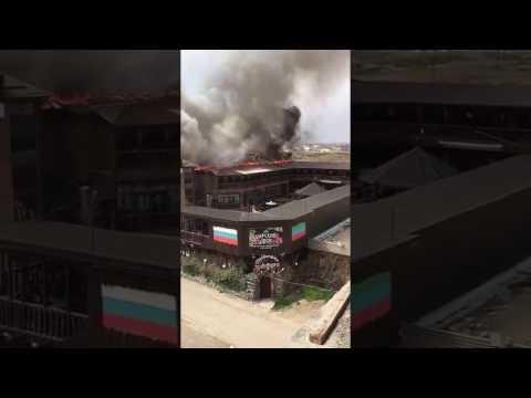 Пожар в ресторане «Царский двор» потушен – МЧС (видео)