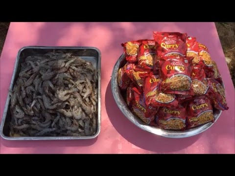 Awesome Noodles - Cooking 5 KG Prawns with 50 Ramen Noodles - Simple and Easy Prawn Recipe -