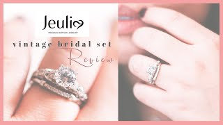 Jeulia Jewelry Bridal Ring Set Review (vintage) + Wear Test