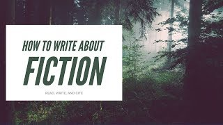 How to Write about Fiction