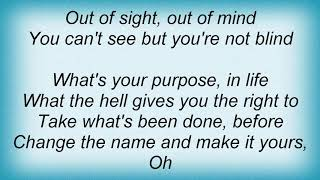 Anthrax - Out Of Sight, Out Of Mind Lyrics