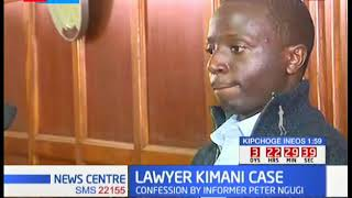 KIMANI'S MURDER - Witness Moses Muirugi testifying on the murder of Lawyer Kimani in Nairobi's court