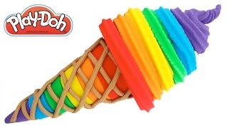 Learn Colors Play Doh Ice Cream DIY Modelling Clay Fun & Creative for Kids RL