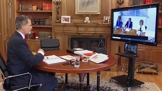Videoconferencia S.M. el Rey con una representación del Instituto para el Desarrollo e Integración de la Sanidad - IDIS