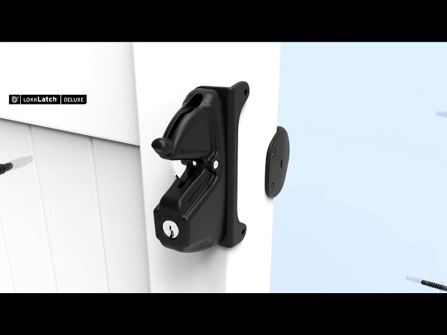 How to install LokkLatch DELUXE® Privacy & Security Gate Latch