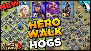 Hero Walk Hogs - NEW STRATEGY for TH 12 - Takes Down iTzu's & Earth's Legend Bases | Clash of Clans