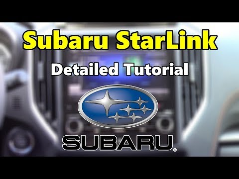 Subaru StarLink 2018 Detailed Tutorial & Review: Tech Help