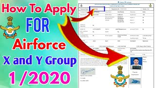 how to apply for Air force x and y group || 2019 || inteck 1/2020 || my study dost