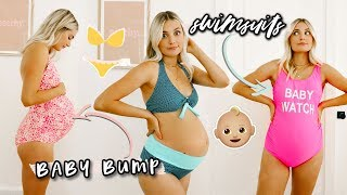 TRYING ON MATERNITY SWIMSUITS 9 MONTHS PREGNANT! | Aspyn Ovard