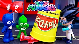 33464c90b6227 Pj Masks Play-doh Stop Motion With Romeo Turning Gekko Owlette And Catboy  Into Softee