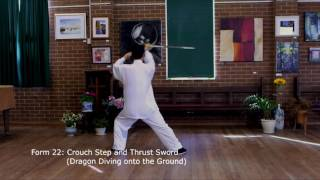 Tai Chi Sword 42 Form  (Slow Motion with Instructions)