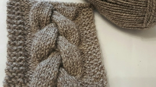 Простая коса спицами. How to knit an easy cable. subtitles