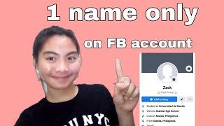 How to put one name only on Facebook?