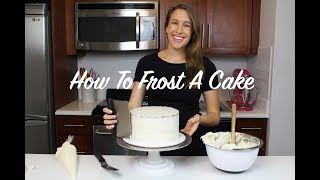 How To Frost A Cake - A Beginner's Guide   CHELSWEETS