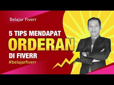 Video 5 Tips mendapat orderan di Fiverr