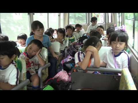 ともべ幼稚園「バスの中」