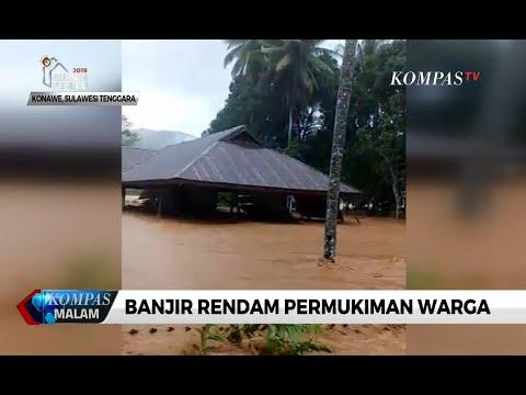 Detik-detik Rumah Warga Konawe Utara Terseret Banjir