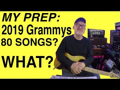 Top session guitarist Tim Pierce explains how he prepares to play 80 songs for the Grammy Awards show.