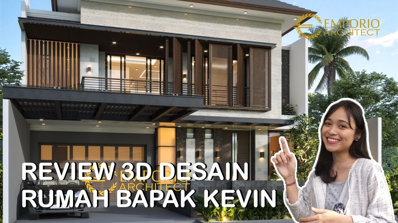 Video 3D Desain Rumah Modern 2 Lantai Bapak Kevin di Tangerang, Banten