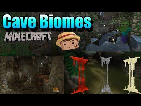 Minecraft Mod [ CaveBiomes ] 1.7.10  Cuevas decoradas :3