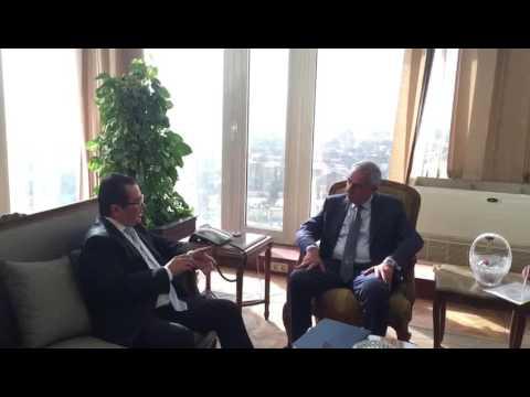 لقاء الوزير/ طارق قابيل بسفير كازاخستان الجديد بالقاهرة