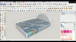Download how to make blanket / bed cover on google sketchup