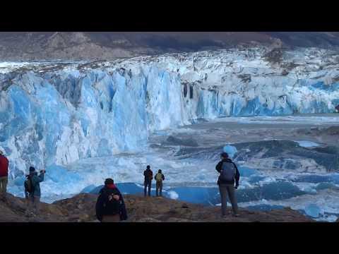 Massive Glacier Wall Collapse
