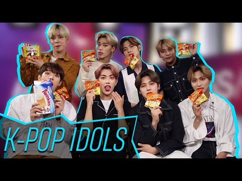 ATEEZ Does A Mukbang With Iconic American Junk Food!