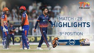 Match 28 3rd Position, Bengal Tigers vs Maratha Arabians, T10 League 2018