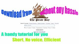 Download torrent from The Pirate Bay proxylist with utorrent