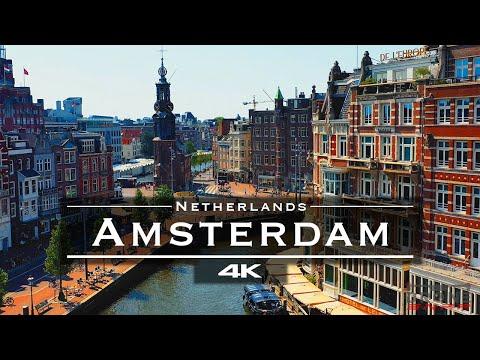 Fly Above the Major Landmarks of Amsterdam in 4K