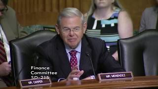 Menendez Questions Lighthizer on intellectual property, labor obligations in NAFTA & China