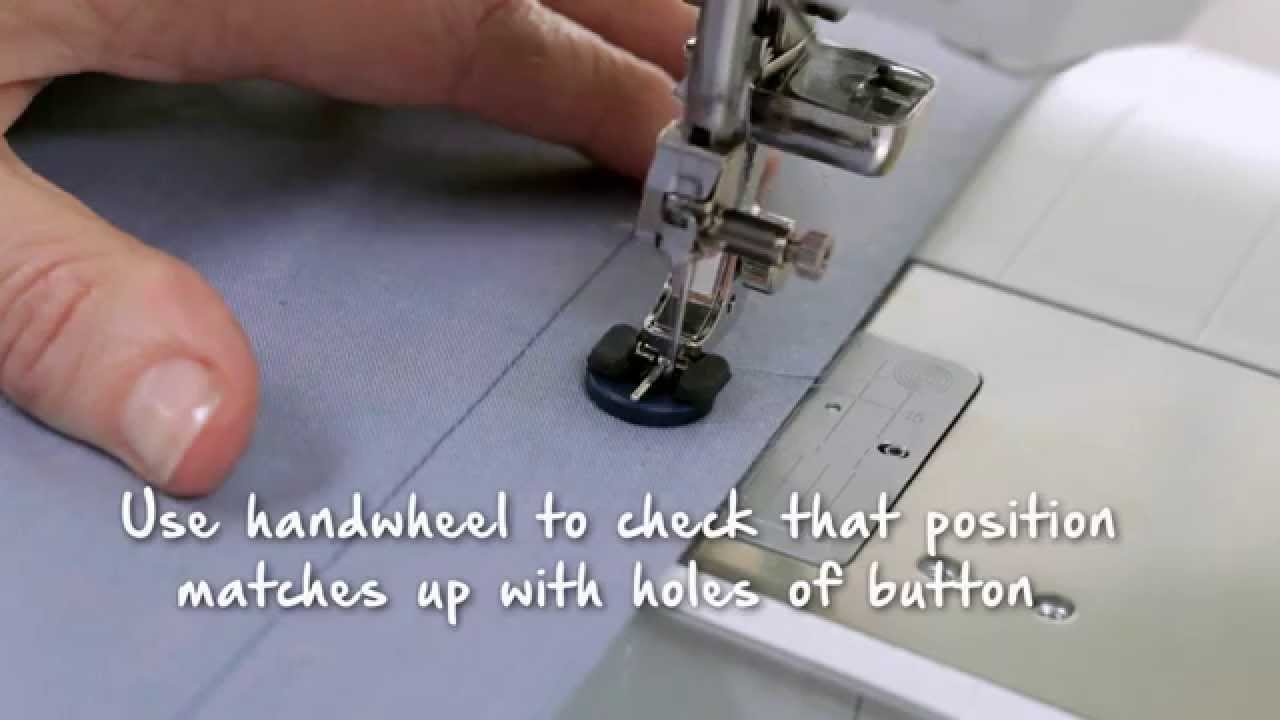 4/11 BERNINA 790: Sewing buttonholes and sewing on buttons
