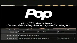 Pop Network with Scrolling TV Guide Listings Grid: April 2016 (Full Cycle)