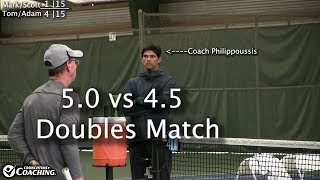 5.0s Vs 4.5s Doubles Match @ John Newcombe Tennis Ranch