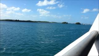 preview picture of video 'Bermuda Ferry Ride, Hamilton to Dockyard.'