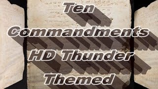 Ten Commandments HD Thunder Themed Video King James Bible - www.freeavbible.com