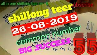 Shillong teer 15/07/2019 house ending common number 100